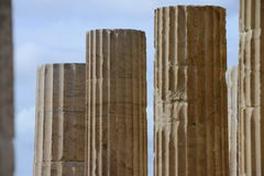 Marble columns succession Royalty Free Stock Photo