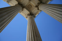 Marble columns at Supreme court Royalty Free Stock Images