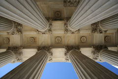Marble columns at Supreme court royalty free stock photos