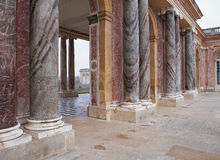 Marble columns in Trianon at Versailles Palace Royalty Free Stock Photography