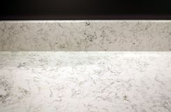 Marble Countertop In The Kitchen Stock Photos