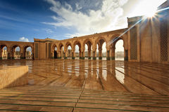 Marble Courtyard of Hamman II Mosque Stock Photography