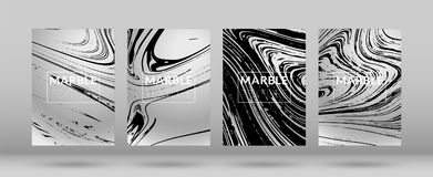 Marble Cover Set royalty free illustration