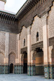 The marble craft of building at Medersa Ben Youssef in Marakesh Stock Photo