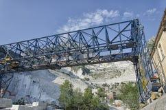 Marble crane in quarry at Carrara Royalty Free Stock Image