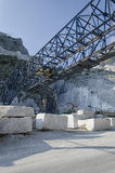 Marble crane in quarry in Italy Royalty Free Stock Image