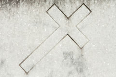 Marble cross Royalty Free Stock Photos