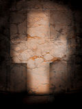 Marble cross stock image