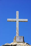 Marble cross at Penha church, Portugal. Stock Image