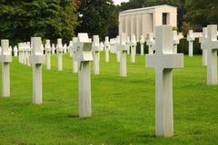 Marble crosses. Military cemetery. England. Stock Photos