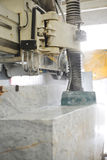 Marble cutting Stock Photo