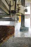 Marble cutting Royalty Free Stock Photography