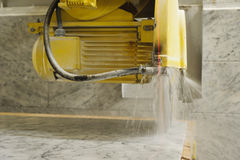 Marble cutting Royalty Free Stock Photo