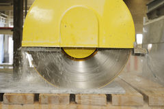 Marble cutting Stock Photography