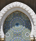 Marble design on Hassan II Mosque,Casablanca Stock Photo