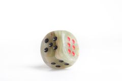 Marble dice cube Stock Images