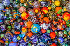 Marble diversity background of marbles in many colors Royalty Free Stock Images