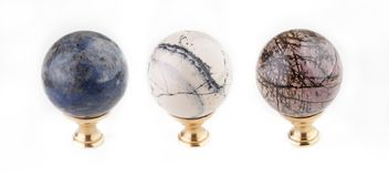 Marble Door Handle studio quality stone texture. Marble beautiful door handle stone texture studio quality Royalty Free Stock Images