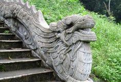 Marble dragon sculpture Stock Photo