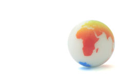 Marble Earth. Marble globe stock illustration