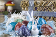 Marble easter eggs Stock Photo