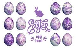 Marble Easter Eggs Set.