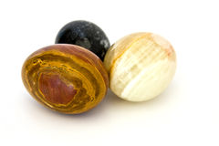 Marble Eggs. Three marble eggs on white background Royalty Free Stock Image