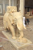 Marble Elephant In City Palace . Royalty Free Stock Photo