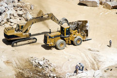 Marble extraction. In a quarry, Alentejo, Portugal Royalty Free Stock Image