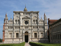 Marble facade of the Church called Certosa di Pavia in Italy Stock Photography
