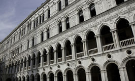 Marble facade of Doge's palace, Venice Royalty Free Stock Photo