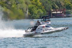 Marble Falls Lake Fest 2017 Drag Boats stock photo