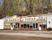 Marble Farms, Syracuse, NY. Syracuse, New York, USA. May 5, 2018. Marble Farms , a popular cash and carry and ice cream shop for over 75 years ,closed in the Stock Photo