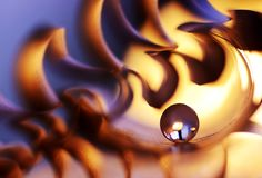 A marble on fire Stock Images