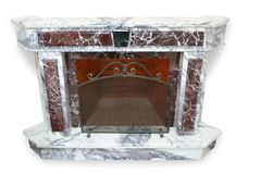 Marble fireplace Stock Images