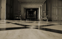 A marble fireplace Stock Photos