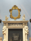 Marble Fireplace in Museum on the Wirral in Cheshire Stock Photos