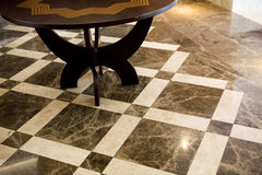Marble floor. Black and beige marbles floor Stock Photography