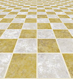 Marble floor. A large image of a checkered light marble floor Royalty Free Stock Photography