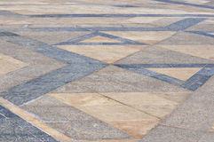 Marble Floor Hassan II Mosque plaza,Casablanca Stock Photos