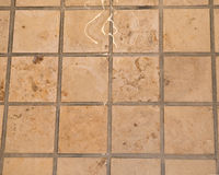 Marble floor pressure cleaning Royalty Free Stock Images
