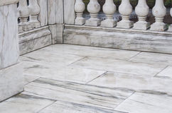 Marble floor and railing Stock Image