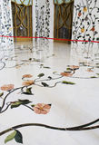 Marble floors White mosque in Abu Dhabi. The UAE. Royalty Free Stock Photos