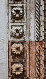 Marble flower from gothic portal of San Grerogio church Stock Photo