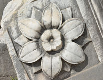 Marble flower from the Temple of Saturn in Roman Forum Royalty Free Stock Image
