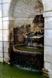 Marble fontain. Baroque marble fontain in Schlosshof park stock image