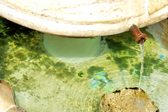 Marble fontaine at Castelo de Vide. Stock Photo