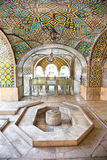 Marble fountain of Golestan palace. Mosaic wall and marble fountain of Golestan palace, Tehran, Iran Stock Images