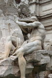 Marble Fountain in Navona Square of Rome Royalty Free Stock Photos