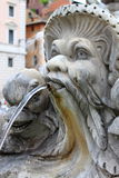 Marble fountain in Pantheon, Rome Royalty Free Stock Photography